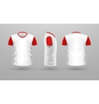 t-shirt template set front side back view vector image