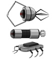 Three designs of nanobots vector image