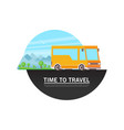 travel bus in flat style vector image vector image