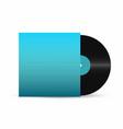 vinyl record gramophone record with empty vector image