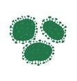 virus bacteria infection coronavirus vector image