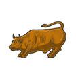 wall street bull statue sketch