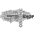 what kind of shopper are you text word cloud vector image vector image