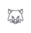 wild boar line icon sign on vector image vector image