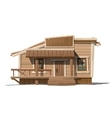 Wooden house with sign and porch in country style vector image vector image
