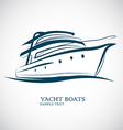 Yacht Boat vector image vector image