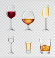 Alcohol Drinks Transparent vector image