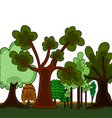 cartoon style forest vector image