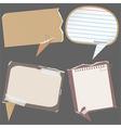 paper speech bubbles vector image