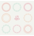 Set of colorful arrows frames Trendy hand drawn vector image