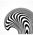 abstract background with black and white striped vector image vector image