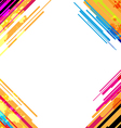 abstract colorful frame design vector image vector image