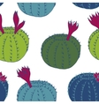 abstract seamless pattern with cactuses vector image