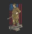american army veteran independence vector image vector image