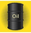 Barrel of oil pop art style vector image