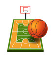 basketball game equipment sport items and play vector image