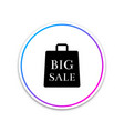 big sale bag icon isolated on white background vector image vector image