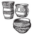 bronze age pottery is a not drawn to scale vector image vector image