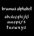 brumus alphabet typography vector image vector image