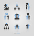 business people group set vector image vector image