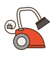 cartoon modern vacuum cleaner appliance electronic vector image vector image