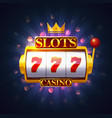 casino slot or fruit machine puggy or pokies vector image