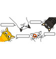 cats tell you wake up cat meme vector image vector image