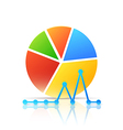 Colorful Icon with Diagram and Graph vector image vector image
