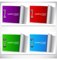 colorful labels set vector image vector image