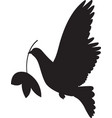 dove peace simple icon flying dove peace vector image vector image