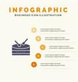 drum celebration infographics presentation vector image vector image