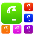 fire extinguisher set color collection vector image vector image