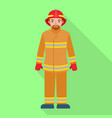 fire fighter man icon flat style vector image