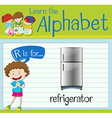 Flashcard letter R is for refrigerator vector image vector image
