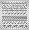 floral line border set vector image