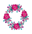 foliage of beautiful flowers design vector image vector image