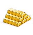 gold ingots vector image vector image