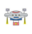 grated technology drone with propeller and digital vector image
