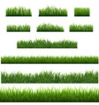 green grass border isolated with white background vector image vector image