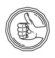 halal icon doodle hand drawn or outline icon style vector image