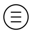 hamburger menu list with parallel navigation vector image vector image