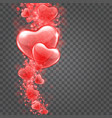 hearts bokeh lights isolated on transparent vector image