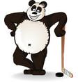hockey panda vector image vector image