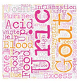 Learn About Gout And Simple Ways To Treat It text vector image vector image