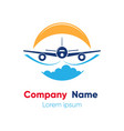 logo design template for abstract airlines vector image