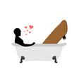lover skateboarding skateboard and guy in bath vector image