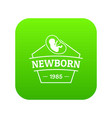 newborn icon green vector image