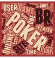 online poker sites 1 text background wordcloud vector image vector image
