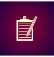 Pictograph of checklist vector image
