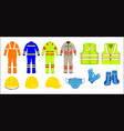 protective construction wear vector image
